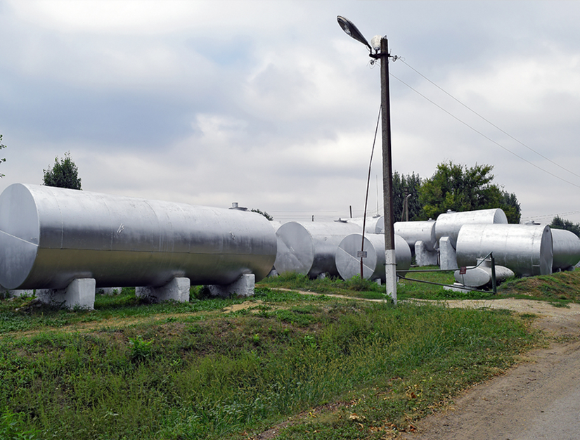 Silver tanks for storage associated with SPCC plans